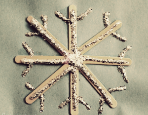 Snowflake with Popsicle Sticks