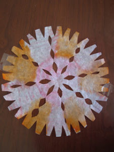 Snowflakes Coffee Filter