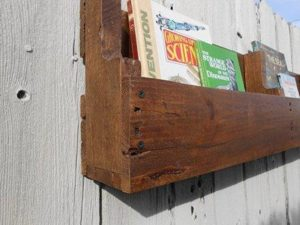 Wall Mount Pallet Bookshelf