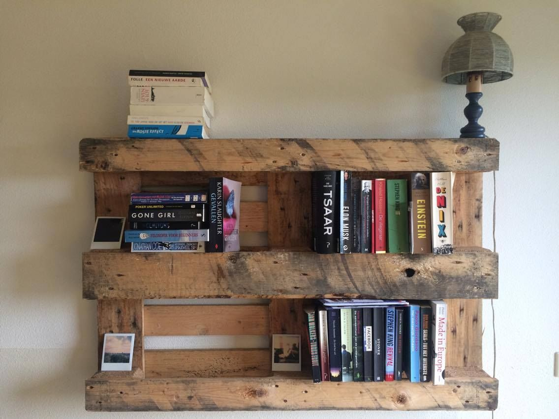30 Diy Pallet Bookshelf Plans Amp Instructions