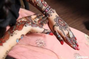 Bridal Mehndi Design Colored