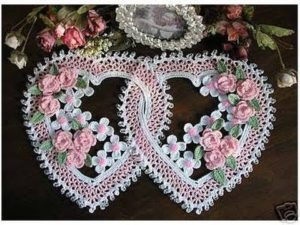 Crochet Heart Doily