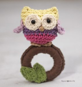 Crochet Owl Ring