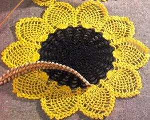 Crochet Sunflower Doily
