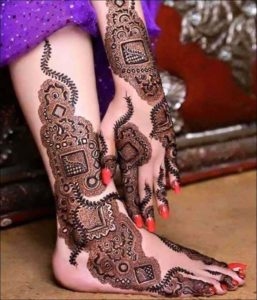 Exclusive Bridal Mehndi Design Hands Leg
