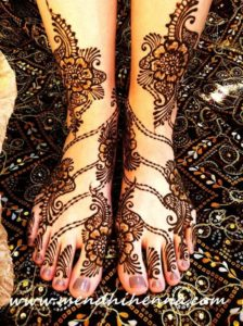 Feet Mehndi Design for Bridal