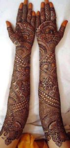Full Hand Bridal Mehndi Designs
