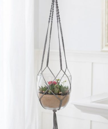 How to Mae a Macrame a Plant Hanger