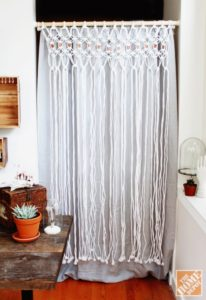 12 Diy Macram 233 Curtains Patterns Macrame Door Curtain