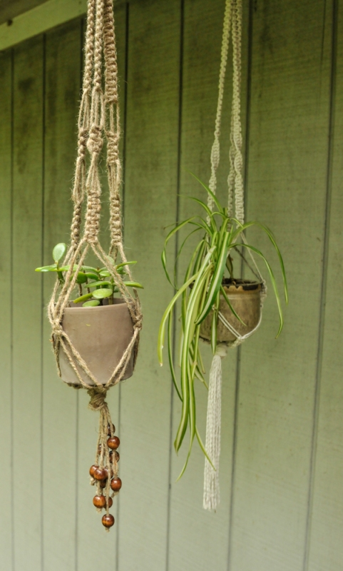 diy macrame plant hanger instructions