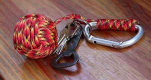 Monkey Fist Paracord Keychain