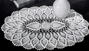 Oval Crochet Doily Pattern