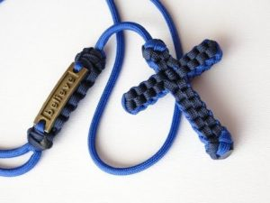 Paracord Cross Necklace