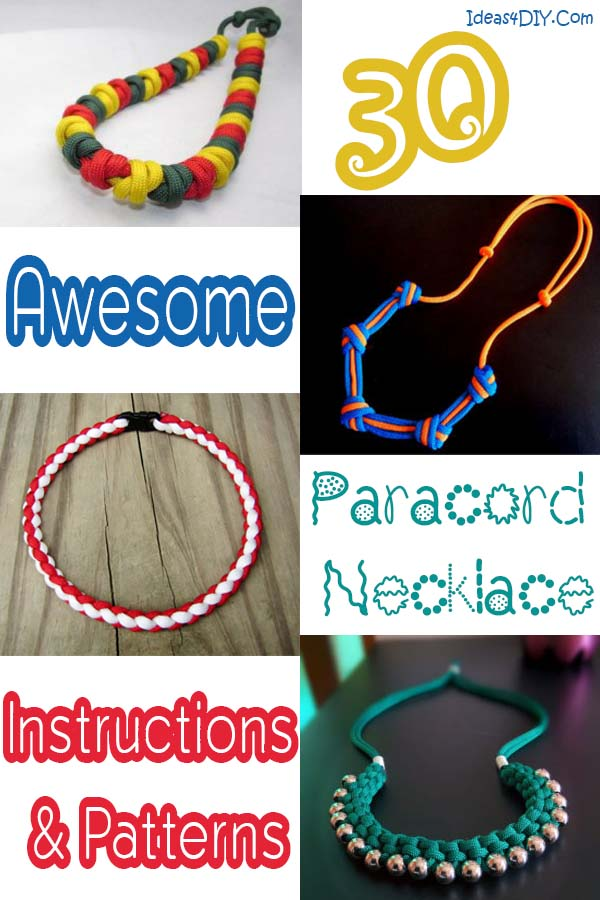 30 Awesome Paracord Necklace Instructions Patterns