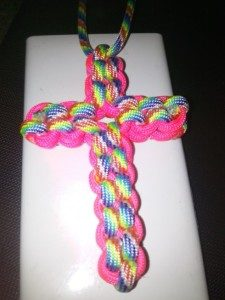 Rainbow Paracord Cross