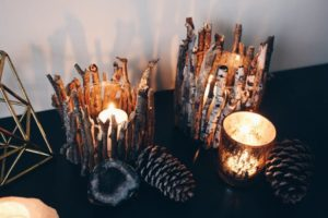 Rustic Twig Candle Holder