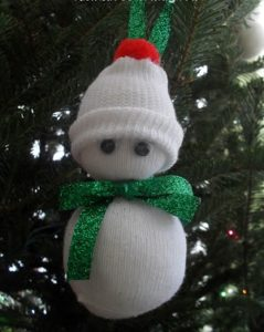 Sock Snowman Ornament