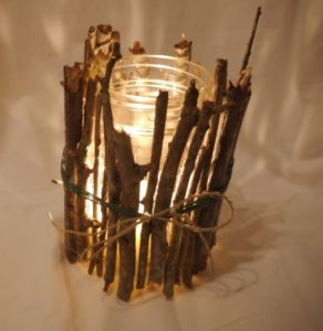 Twig Candle Holder DIY