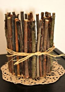 Twig Candle Holder How to