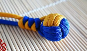 Two Color Paracord Monkey Fist