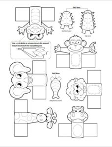 Animal Finger Puppets Template