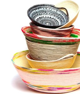 Coiled Rope Baskets