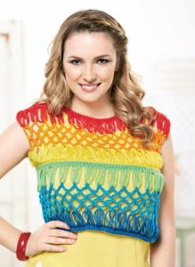 Colorful Crochet Crop Top