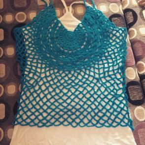 Crochet Circle Crop Top