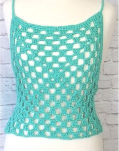 Crochet Crop Top Cover Up
