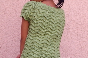 Crochet Crop Top High Neck
