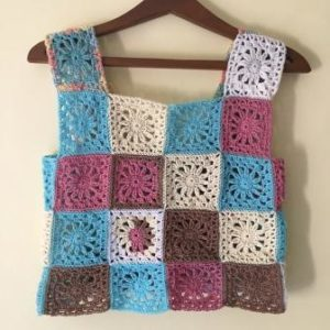 Crochet Crop Top Pattern Granny Square