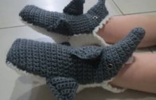 Crochet Shark Slipper