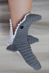 Crochet Shark Slipper Pattern