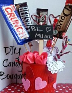 DIY Vantine's Day Candy Bouquet