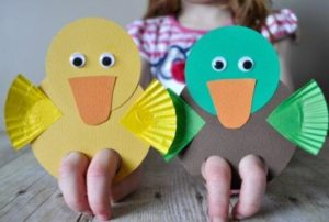 Duck Finger Puppets DIY