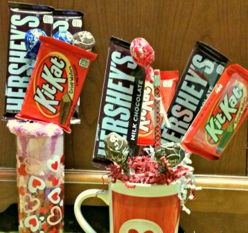 Easy Valentine Candy Bouquet