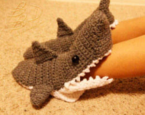 Free Crochet Shark Slipper