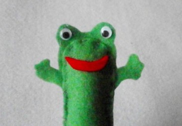 85 free finger puppets patterns instructions and for Frog finger puppet template