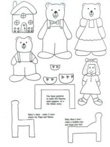 Goldilocks Finger Puppet Template