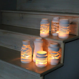 Mason Jar Yarn Lanterns