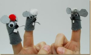 Mice Finger Puppets with Gloves