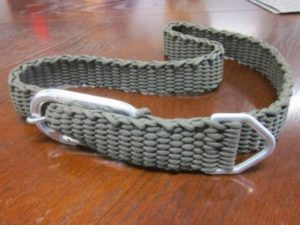 Paracord Belt Pattern with Carabiner