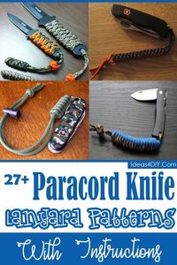 Paracord Knife Lanyard Patterns with Instructions