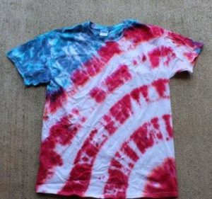 Patriotic Tie Dye Shirt Pattern