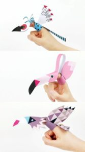 Printable Bird Finger Puppet