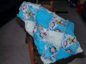 Rag Quilt with Border Pattern