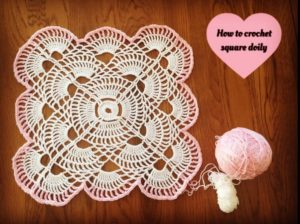 Square Crochet Doily Pattern