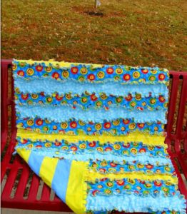 Striped Rag Quilts Tutorial