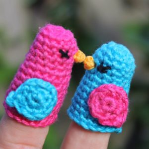 Two Little Dickie Birds Finger Puppet
