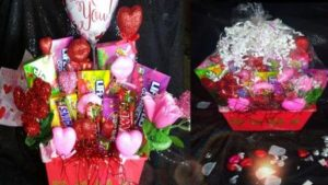 Valentine Candy Bouquet Basket Ideas